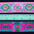 3cm x 1 m • Pink/Green/Blue/Purple Flower Leaf Traditional Hmong Pattern Trim