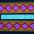 5cm x 1 m • Orange/Purple/Green Flower-Square Traditional Hmong Pattern Trim