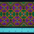 10 cm x 1 m • Green/Purple Clover Square Pattern Traditional Trim Ribbon