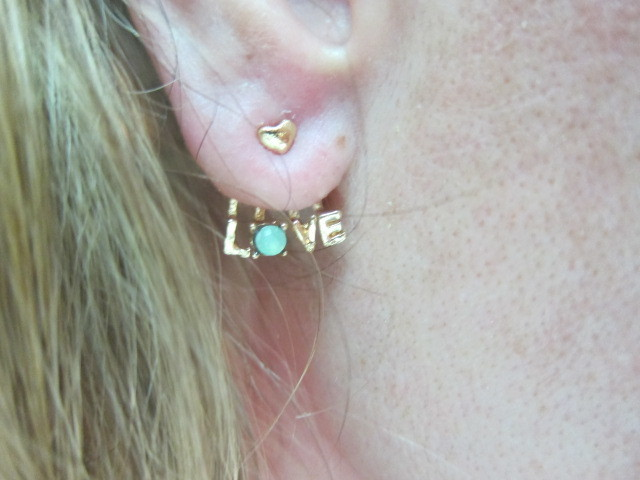 Royal LOVE Earring Jewelry - Red/Aqua/Gold stl