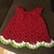 cotton watermelon dress with matching shoes and diaper cover