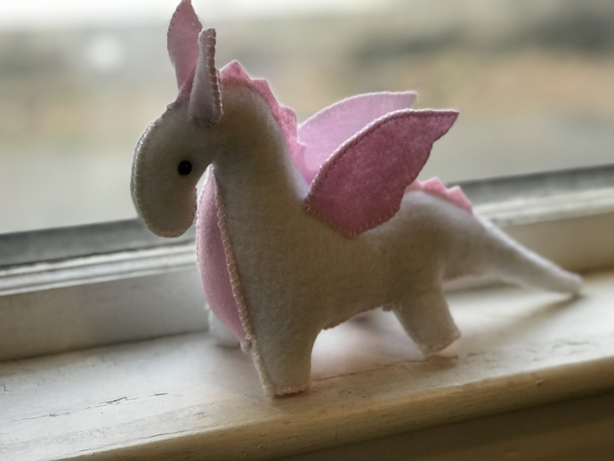 Pink Baby Blanket Dragon - handcrafted stuffed toy Dragon by My Wee Dragon