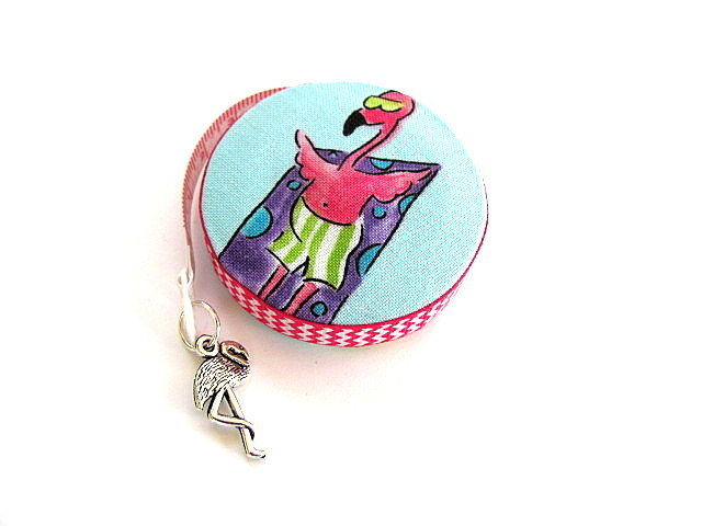 Retractable Tape Measure Flamingos on The Beach Measuring Tape