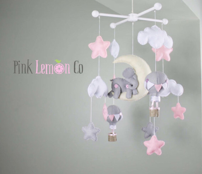 Baby Mobile Crib Nursery Elephant And Hot By