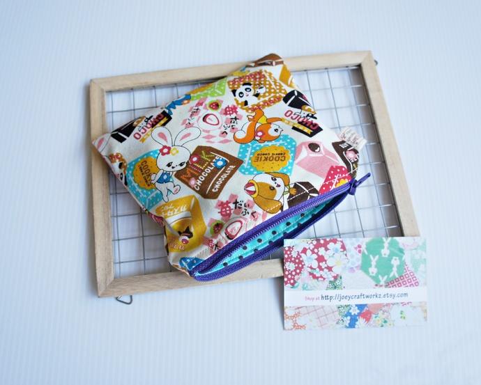 Japanese Kawaii Tidbits Snacks small card zip pouch