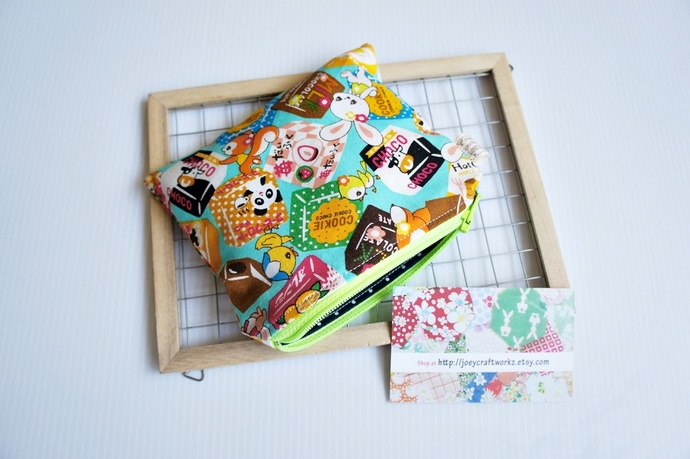 Japanese Kawaii Tidbits Snacks small card zip pouch