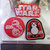 Disney Star Wars The Last Jedi Movie Promo Embroidered Patch Stickers Set Of 2