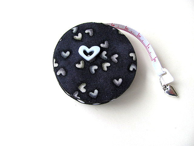 Measuring Tape Black Hearts Retractable Tape Measure