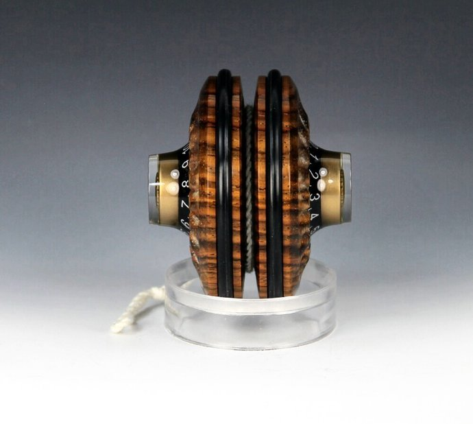 Handmade Toy YoYo, Fixed Axle, Mexican Cocobolo Wood with Electric Guitar