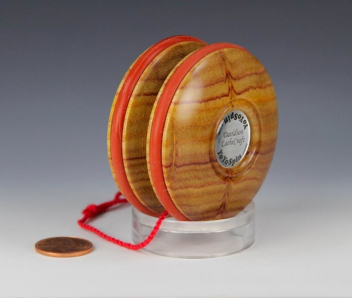 Handmade Toy YoYo, Fixed Axle Imperial...South American Canary Wood