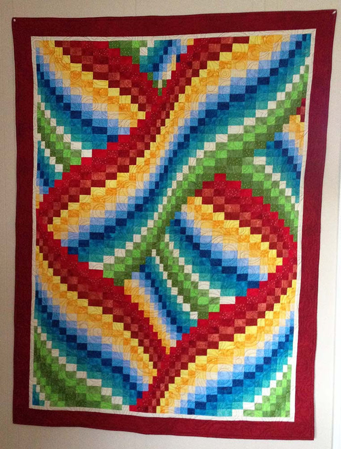 Twisted Bargello Wall Hanging