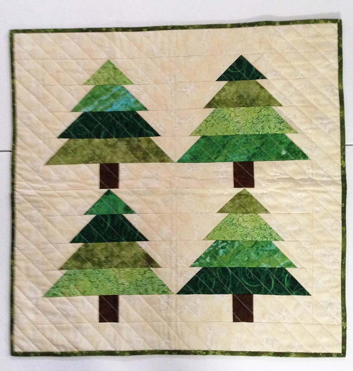 Christmas Tree Table Topper or Wall Hanging
