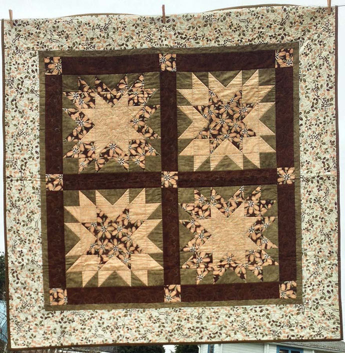 Sawtooth Star Lap Quilt