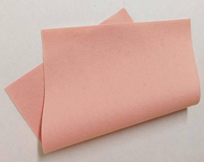 "8"" x 12"" Pink Skin Merino Wool Felt"