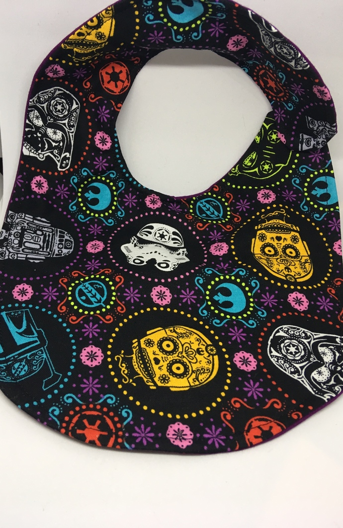 Sugar Skull Star Wars Bib