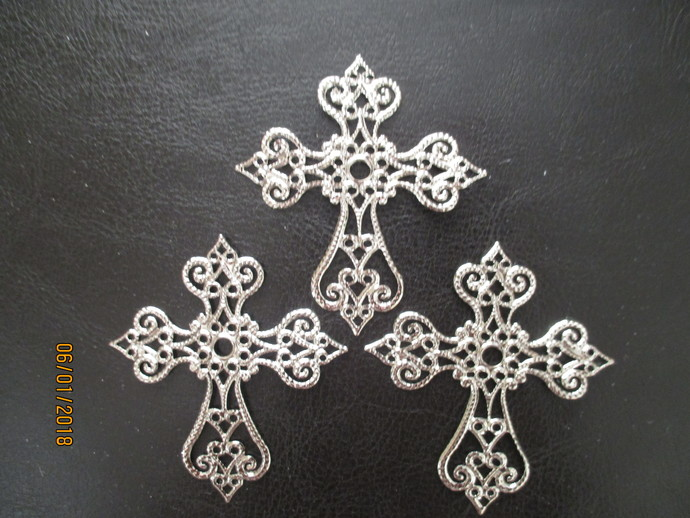 1 x Metal Filigree Cross