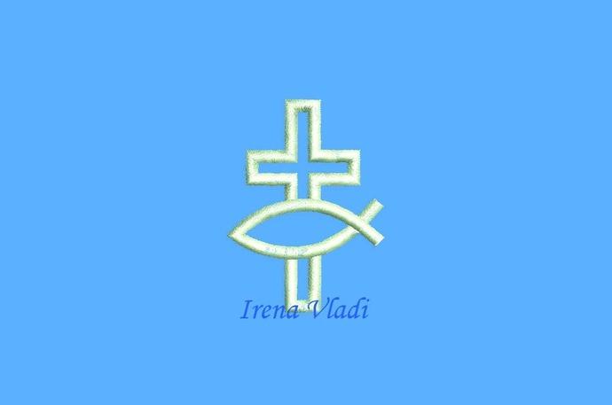 Christian Cross Jesus Ichthys Fish Symbol By Embdesign4u On Zibbet
