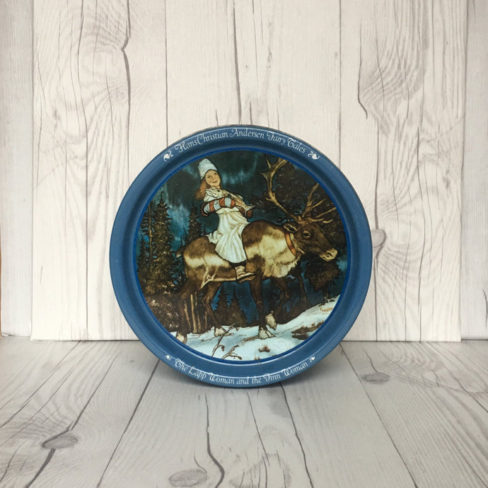 Vintage Hans Christian Andersen Fairy Tales Collectible Tin