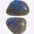 Labradorite Gemstone Cabochon Free Form Parcel TWO CABS