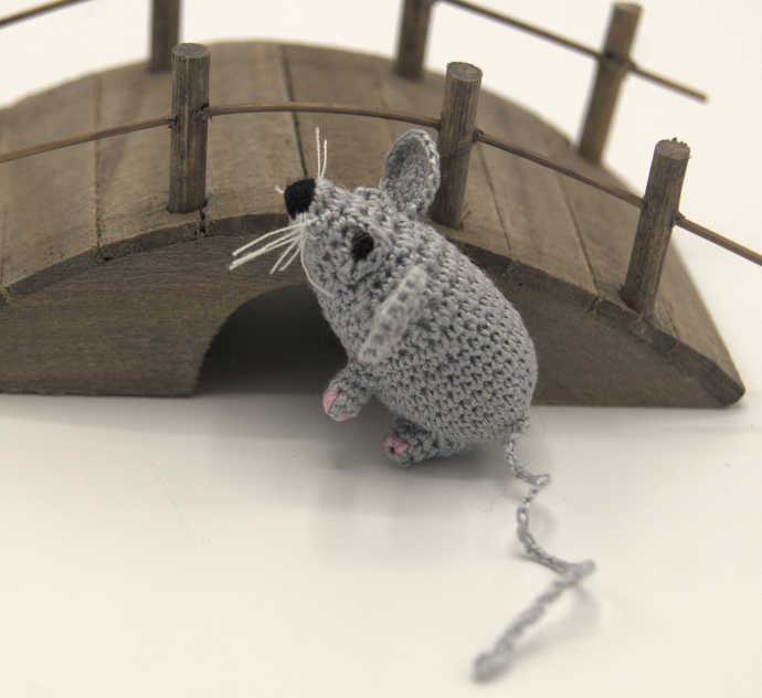 Amigurumi Mini Mouse/Crochet Animal Art/ Miniature Crochet Animals.