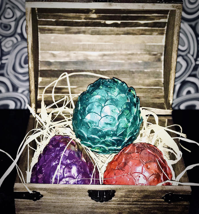 Small dragons eggs, from Game of Thrones