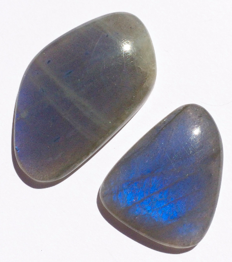 Labradorite Gemstone Cabochon Free Form Parcel TWO CABS