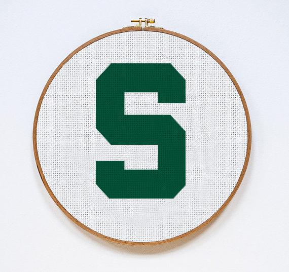 Michigan State Spartans S | Digital Download | Sports Cross Stitch Pattern |