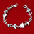 925 Sterling silver Fish bracelet/Wide silver bracelet/Handmade silver