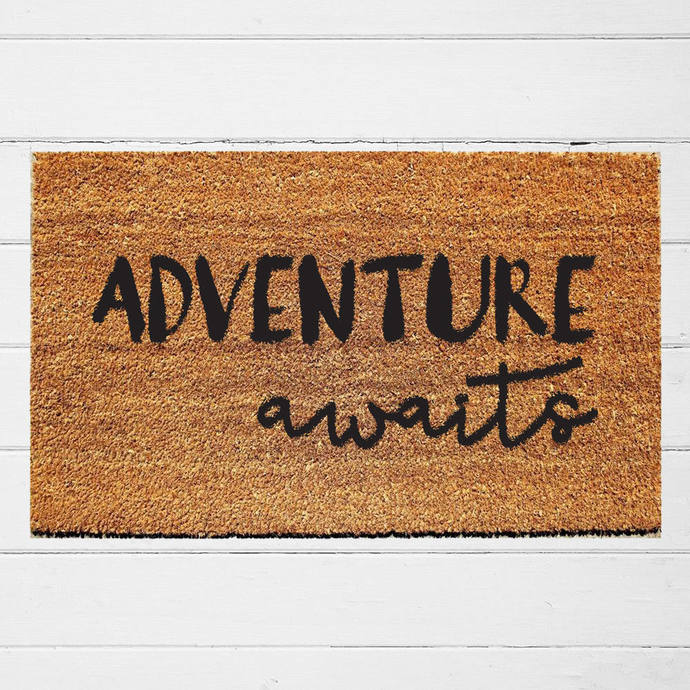 Adventure Awaits Doormat | Welcome Mat | Door Mat | Outdoor Rug | Coir Mat |