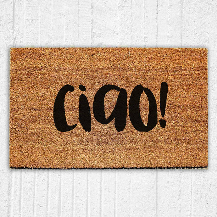 Ciao Doormat | Welcome Mat | Door Mat | Outdoor Rug |  Home Decor | Italian Home
