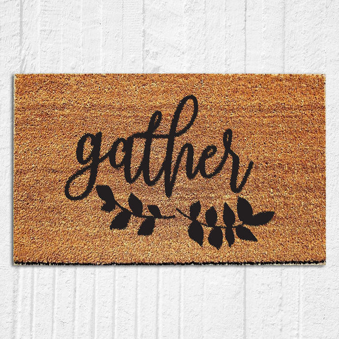 Gather Doormat | Welcome Mat | Door Mat | Outdoor Rug |  Fall Decor |