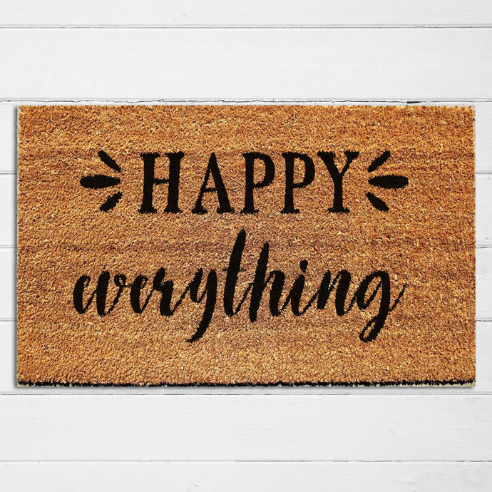 Happy Everything Doormat | Welcome Mat | Door Mat | Outdoor Rug |  Housewarming