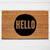 Hello Circle Doormat | Welcome Mat | Door Mat | Outdoor Rug |  Home Decor |