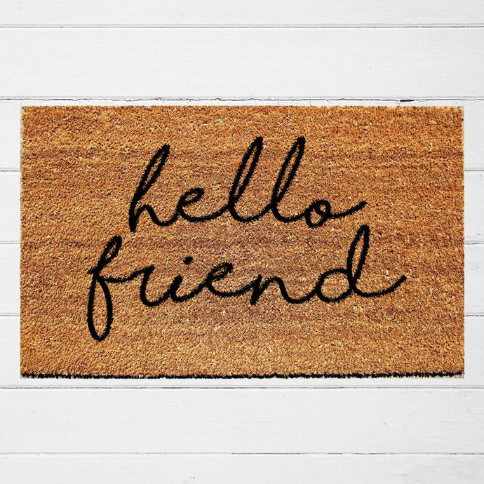 Hello Friend Doormat | Welcome Doormat | Hostess Housewarming Gift | Sassy