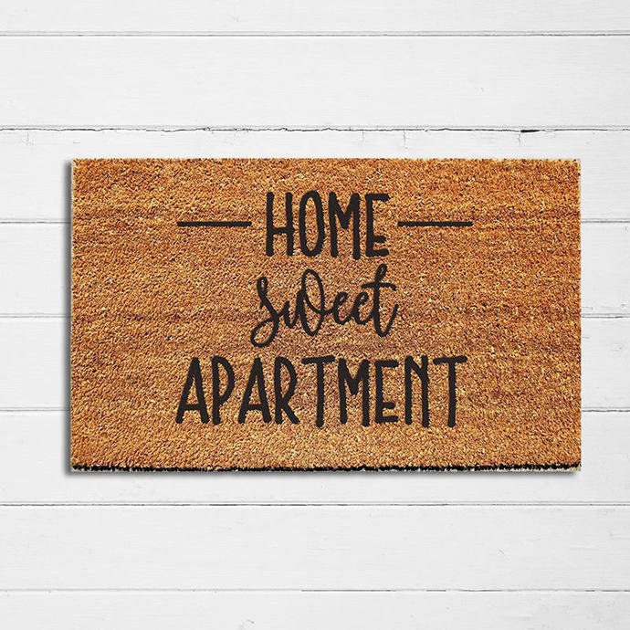 Home Sweet Apartment Doormat | Welcome Mat | Door Mat | Outdoor Rug | Apartment