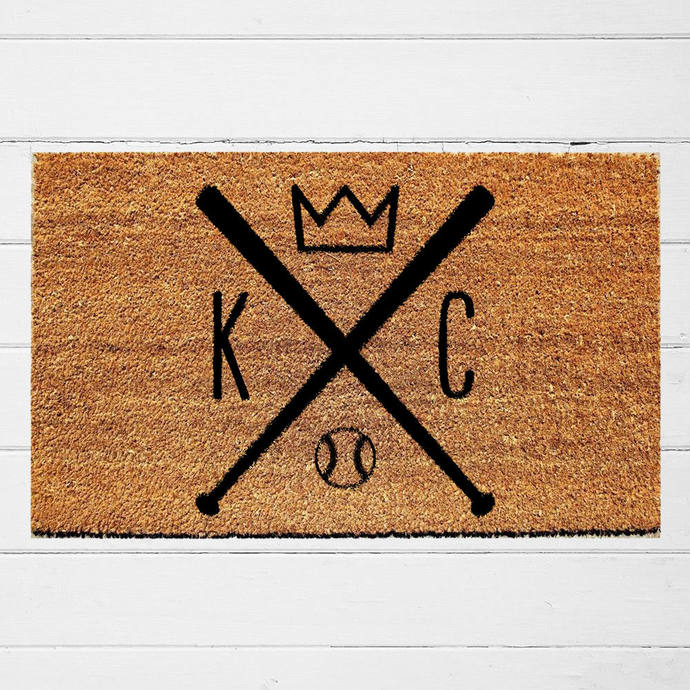 Kansas City Royals Welcome Doormat | Outdoor Rug | Baseball Decor | KC Royals |