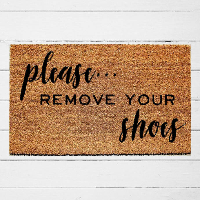 Please Remove Your Shoes Doormat | Welcome Doormat |  Housewarming Gift |