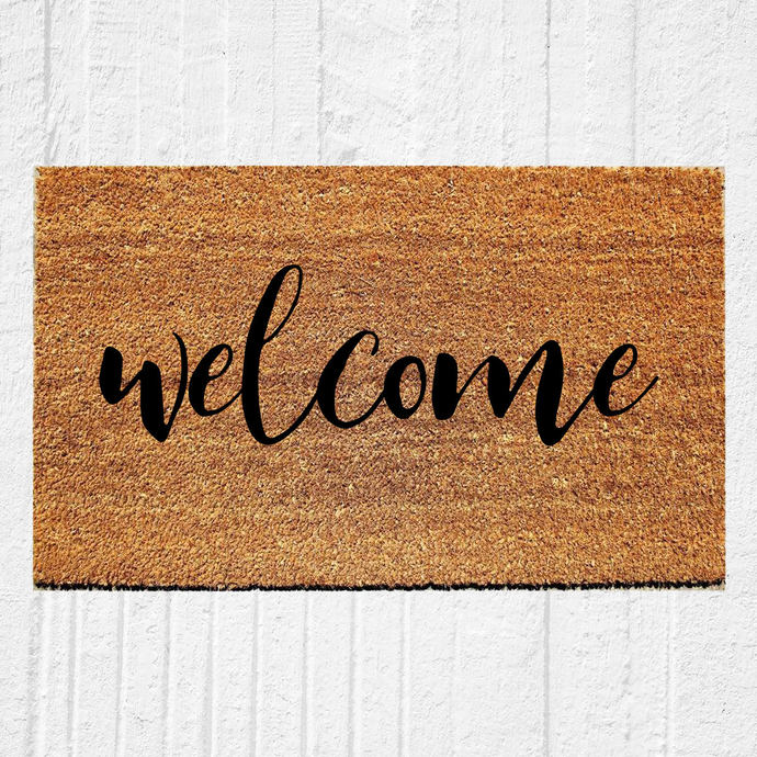 Welcome Calligraphy Doormat Welcome Mat Door By
