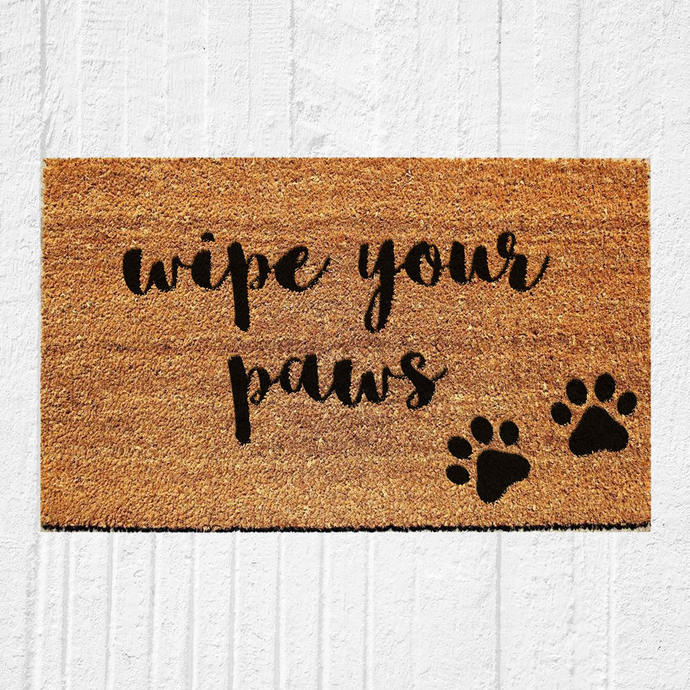 Wipe Your Paws Doormat | Welcome Mat | Door Mat | Outdoor Rug |  Funny Doormat |