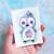 Berry Cupcake Penguin. Original watercolor painting. Small size (7,5x10cm)