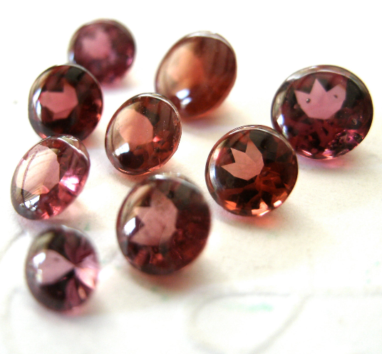 Garnet Rhodolite 5mm Faceted Gemstone Buff Top 5.5mm FOR ONE