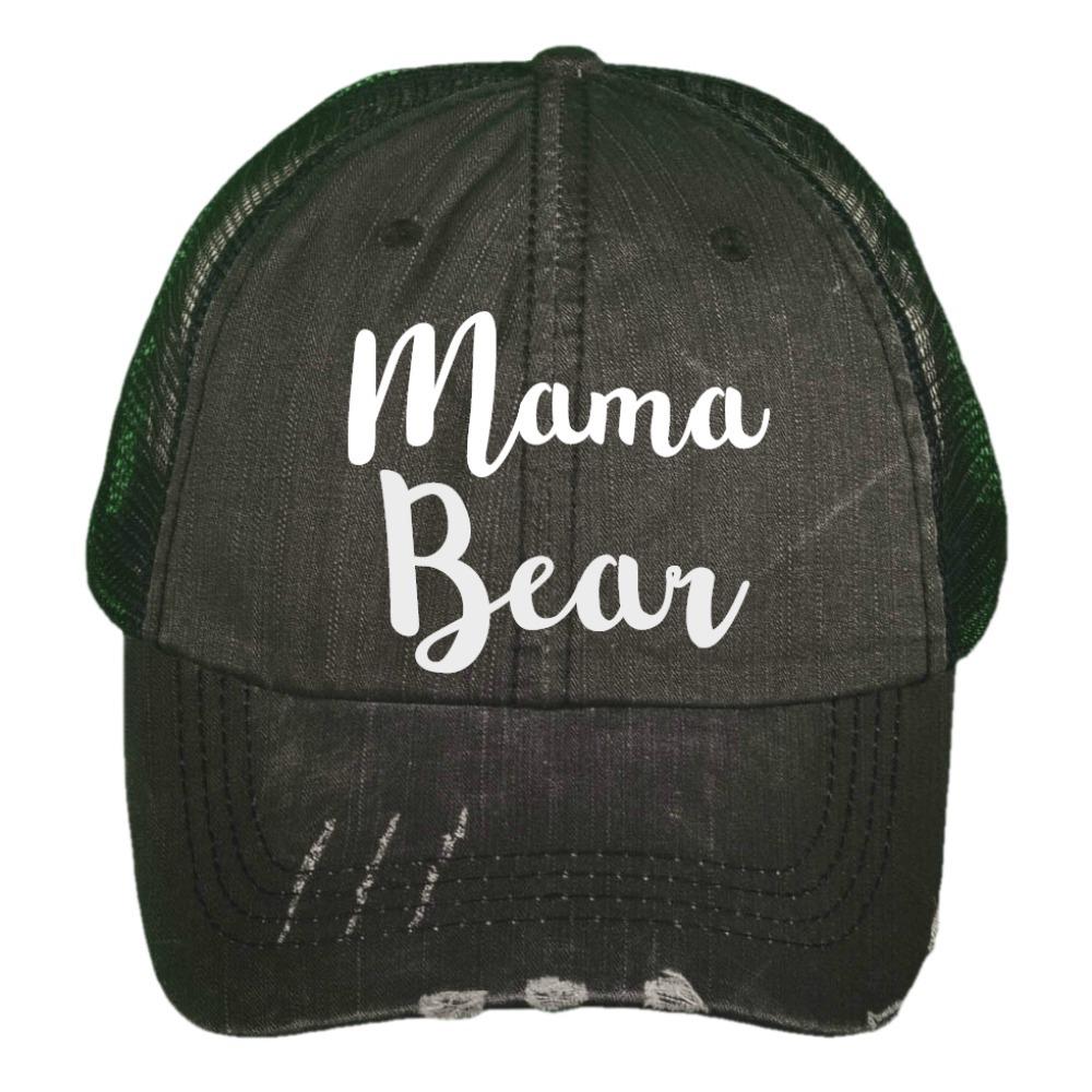 "91a766d95b4a5 Mama Bear"" Adult Custom Distressed Trucker by Sugar Road on Zibbet"