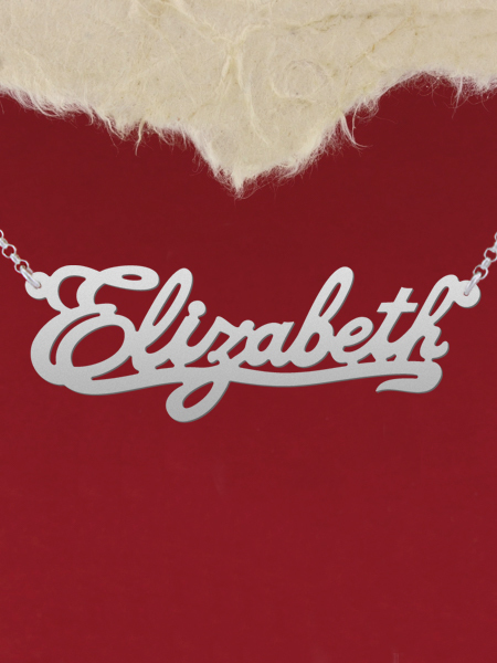 925 Silver Name Necklace Elizabeth/Custom Name Jewelry/Personalized ANY NAME