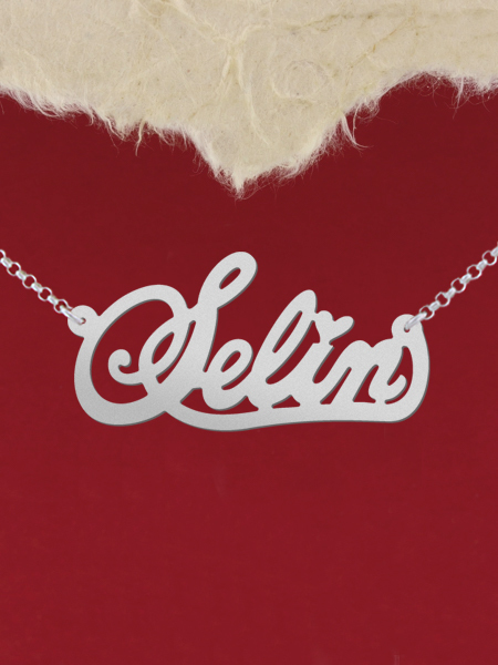 925 Silver Name Necklace Selin/Custom Name Jewelry/Personalized ANY NAME Plate