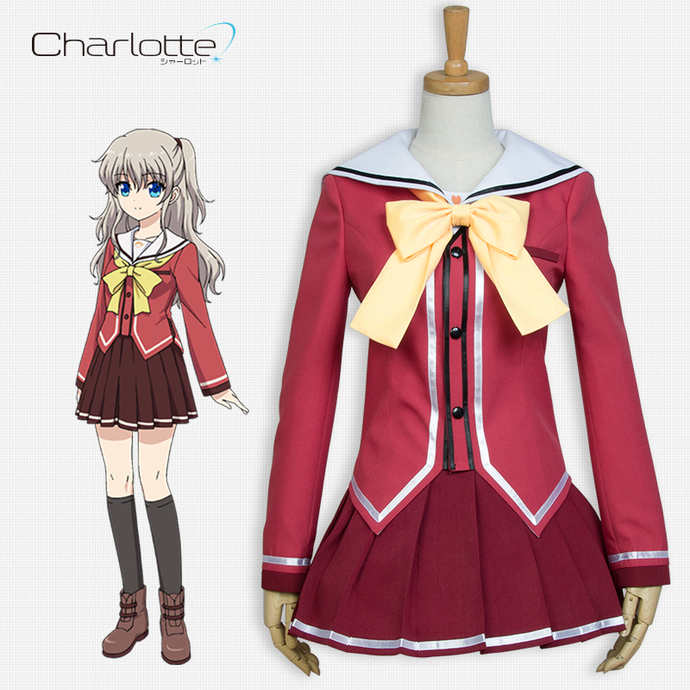 Charlotte Tomori Nao Uniform Skirt Suit Cosplay Costume,Anime Dress, 811101