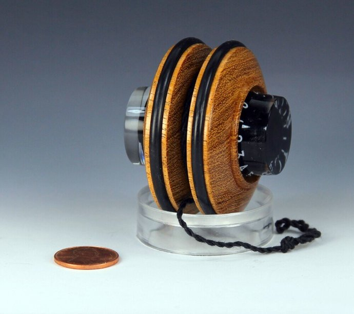 Handmade Toy YoYo, Fixed Axle, Texas Mesquite Wood with Electric Guitar Features