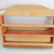 Vintage wood wall /kitchen shelf /rack with drawer,furniture,handmade, red,