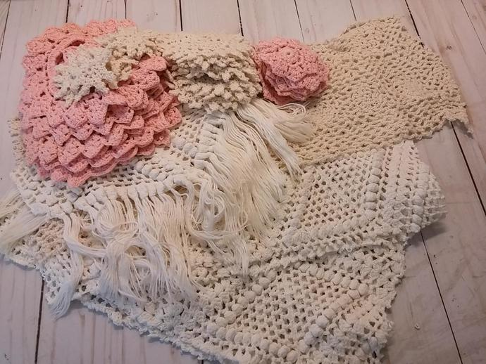 Crochet Doily and off cuts Lot