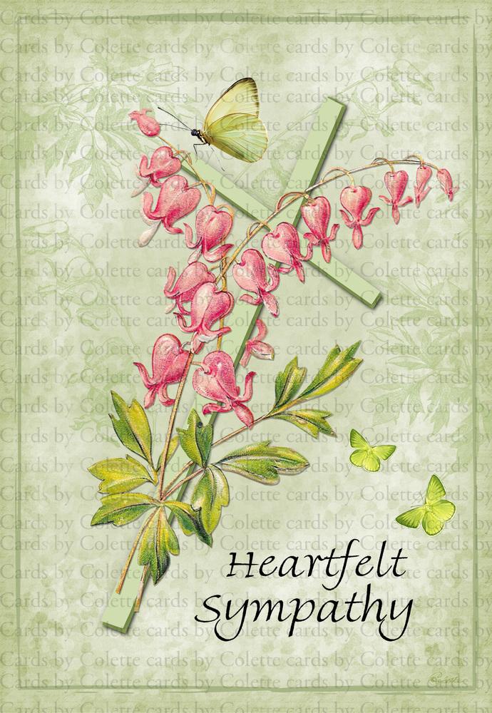 Bleeding Heart Sympathy Card988