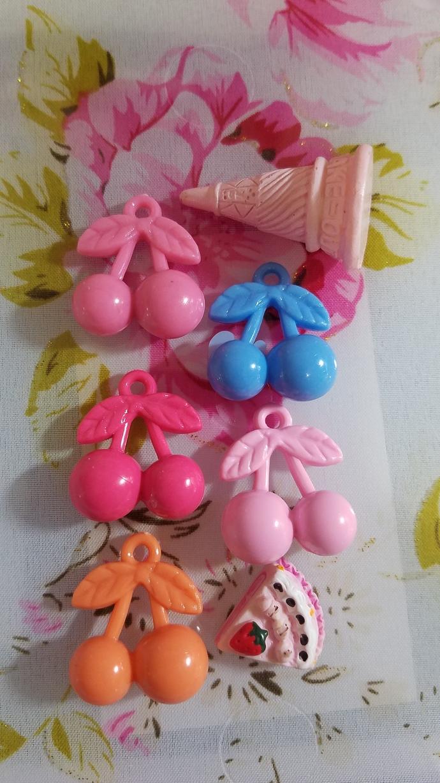 Destash # 13 cherry acrylic charms and cabochons